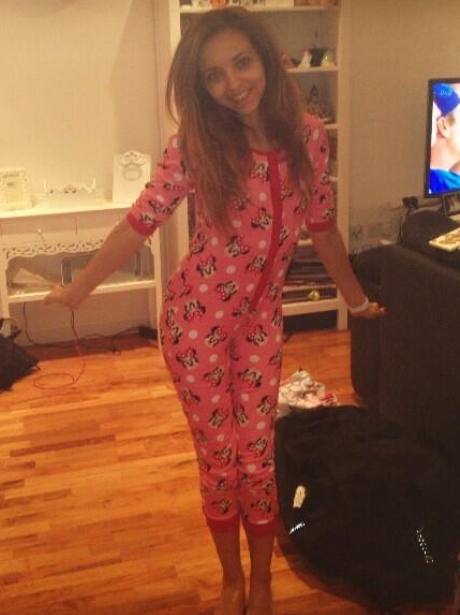 Jade Thirlwall wearing a onesie