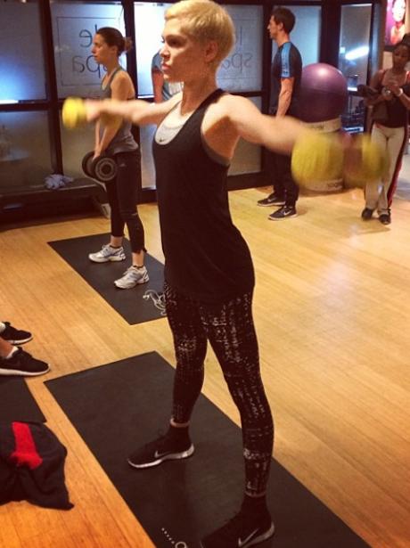 Jessie J in the gym