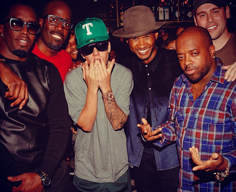 Justin Bieber and Usher 2013