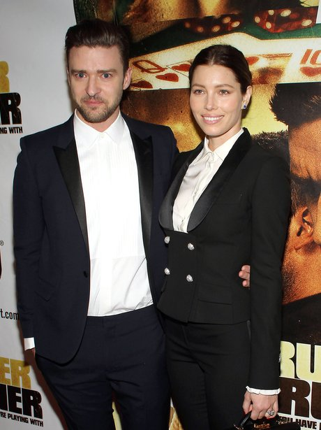 Justin Timberlake and Jessica Biel in matching out