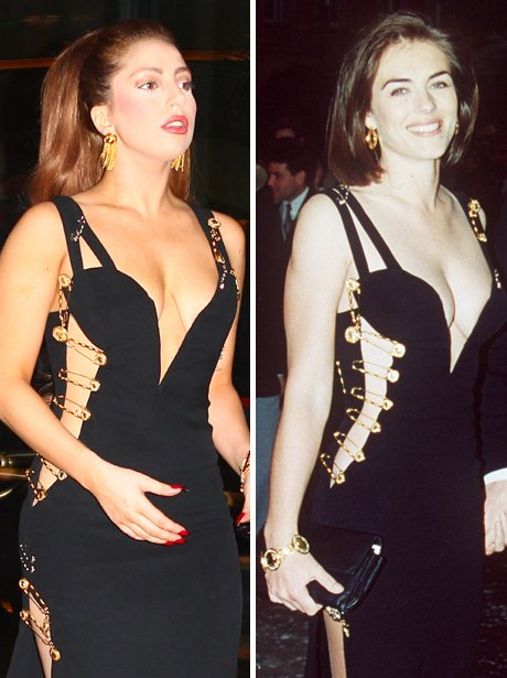 Liz Hurley and Lady Gaga