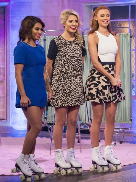 The Saturdays on roller skates