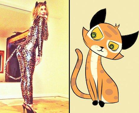 Fergie Black Eyes Peas dressed as a cat