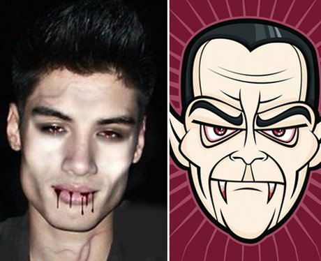 Siva The Wanted dressed as a vampire