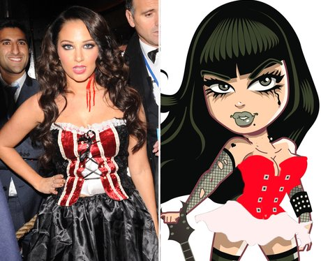 Tulisa dressed as a witch