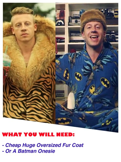 maybe you could dig out your fur coat and onesie for that macklemore thrift shop style image 1 halloween outfits
