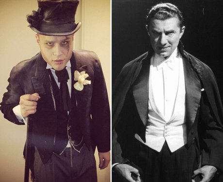 Olly Murs dressed as Dracula