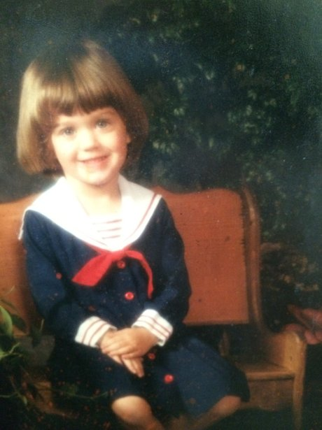Katy Perry in a sailor suit as a child