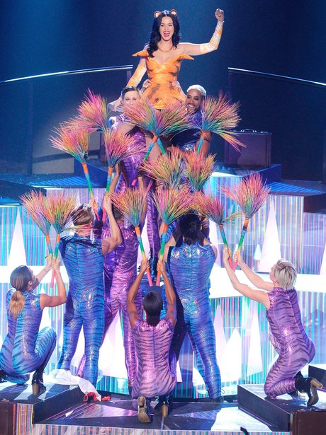 Katy Perry performing during the X Factor Show