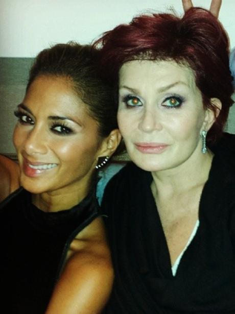 Nicole Scheriznger and Sharon Osbourne