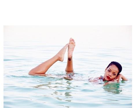 Rihanna in the sea