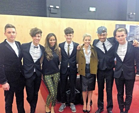 Rochelle Humes with Mollie King and Kingsland Road