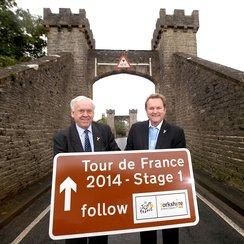 Tour De France sign in Yorkshire