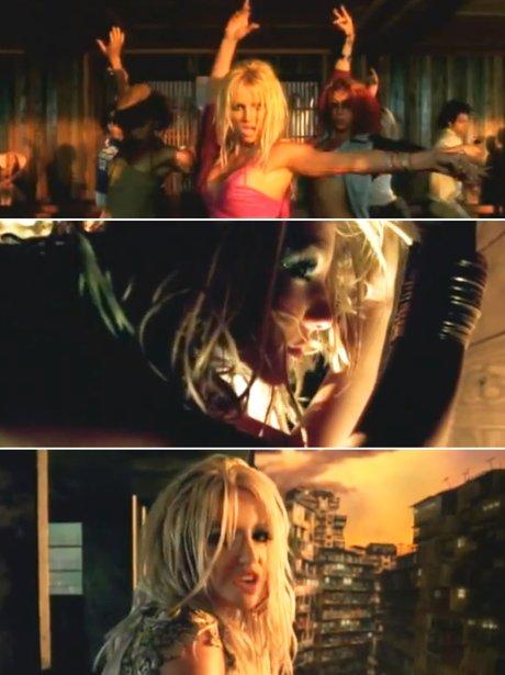 Britney Spears in her 'I'm A Slave 4 U' music video