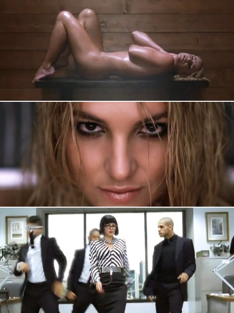 Britney Spears in her 'Womanizer' music video