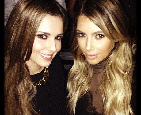 Cheryl Cole and Kim Kardashian