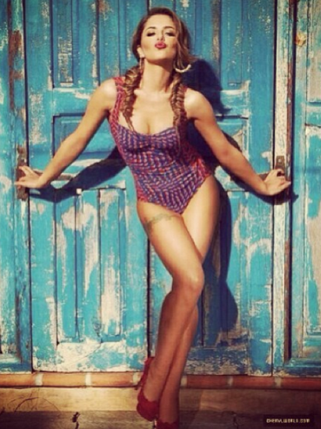 Cheryl Cole's 2014 calendar outtakes