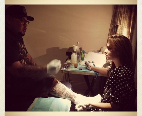 Cheryl Cole Tattooing