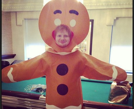 Ed Sheeran Gingerbread Man for halloween