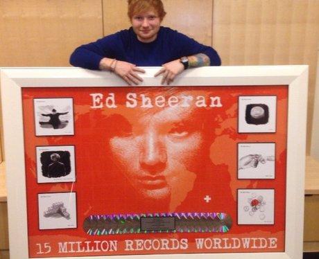 Ed Sheeran Record Sales Plaque