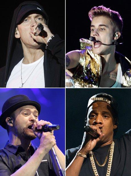 m, Justin Bieber, Justin Timberlake, Jay-Z