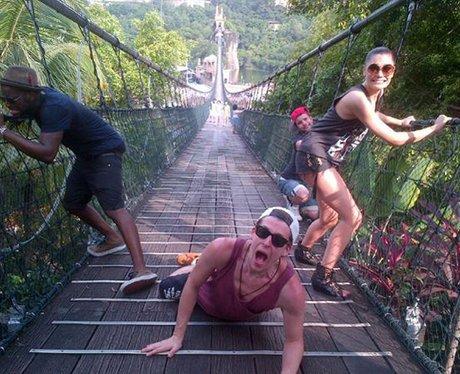 Jessie J on a bridge