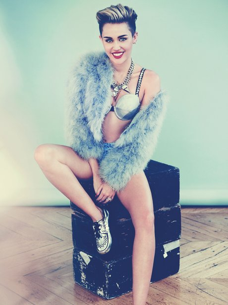 Miley Cyrus in her Cosmopolitan Magazine photoshoot