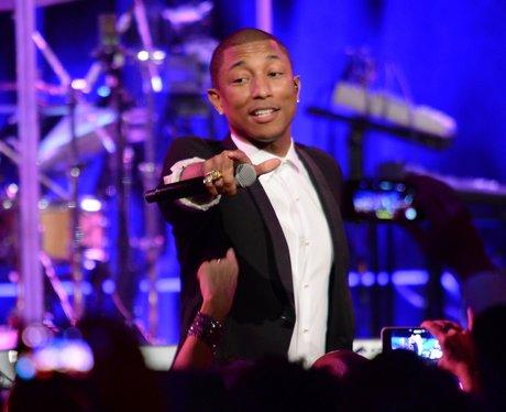 Pharrell on stage