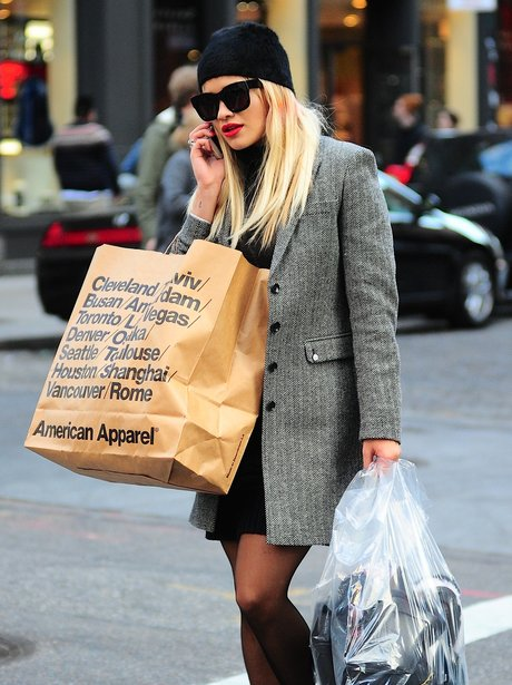 Rita Ora with long hair in New York