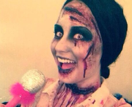Demi Lovato dressed up for Halloween