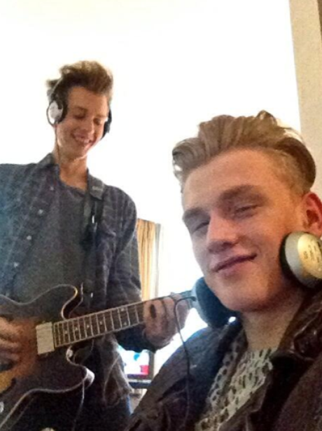 The Vamps back in the recording studio