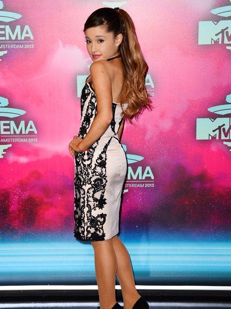 Ariana Grande on the MTV EMAs 2013 Red Carpet