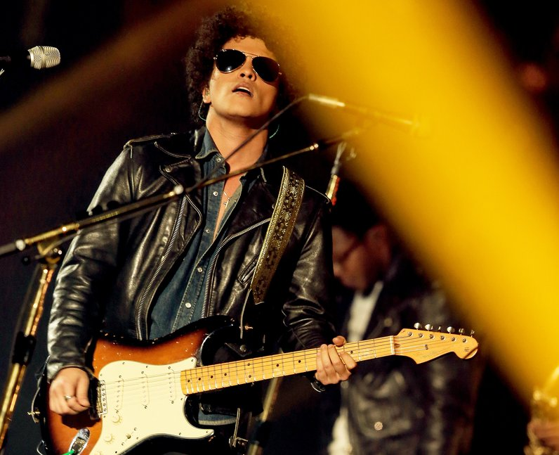 Bruno Mars performs live on stage during the MTV EMA 2013