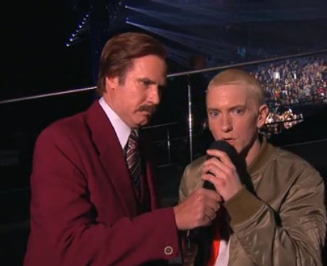 Eminem and Ron Burgundy