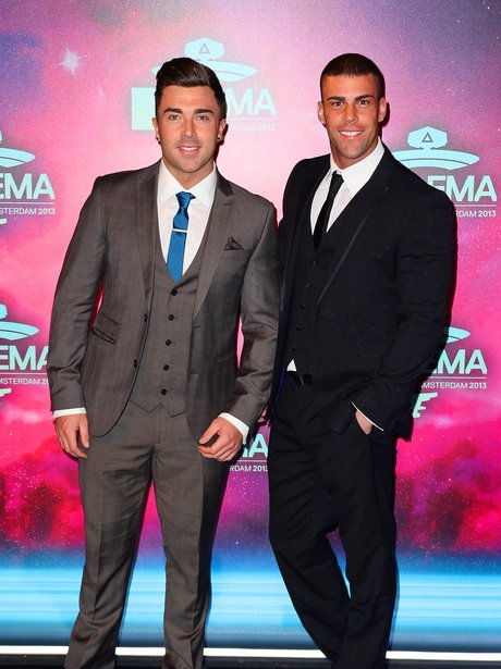 Geordie Shore stars James Tindale and Jay Gardner arrive at the MTV EMAs 2013