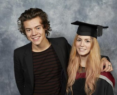 Harry Styles at his sisters graduation
