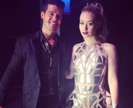 Iggy Azalea and Robin Thicke
