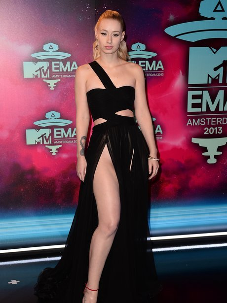 Iggy Azalea arrives at the MTV EMAs 2013