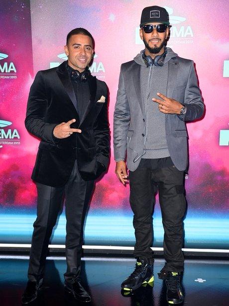 Jay Sean and Swizz Beatz arrive at the MTV EMAs 2013