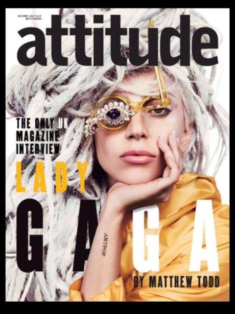 Lady Gaga on the cover of Attitude Magazine
