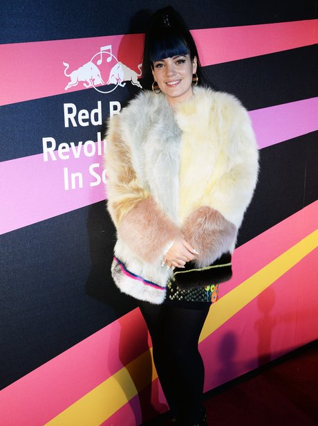 Lily Allen arrives at Red Bull Revolutions