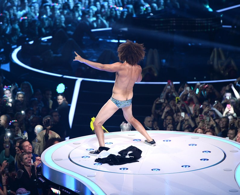 LMFAO star Redfoo on stage at the MTV EMAs 2013