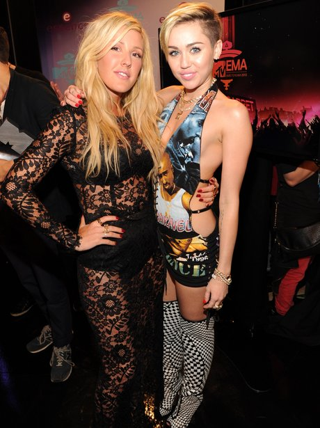 Miley Cyrus and Ellie Goulding EMAs