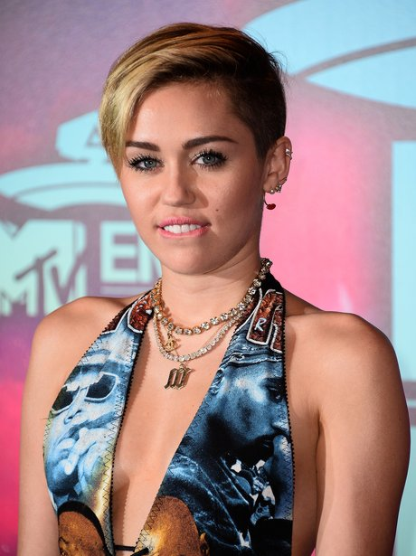 Miley Cyrus on the MTV EMAs 2013 Red Carpet