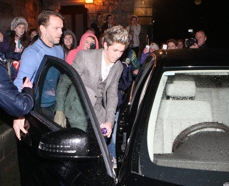 Niall Horan at his nephew's Christening.