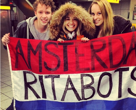 Rita Ora with fans