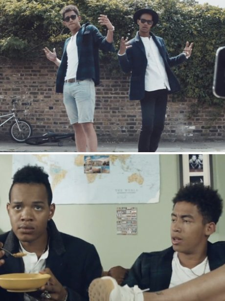 Rizzle Kicks in their 'Lost Generation' music video