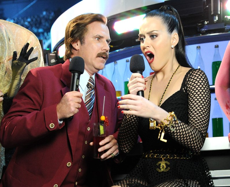 Ron Burgundy and Katy Perry