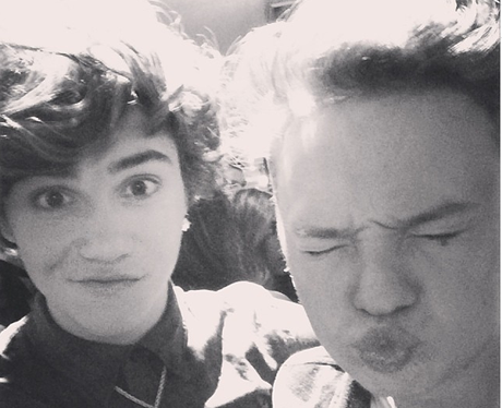 George Shelley and Conor Maynard on a night out