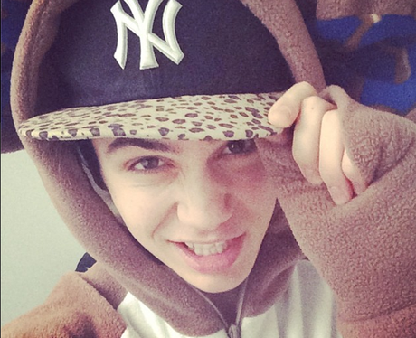 George Shelley shares an Instagram selfie
